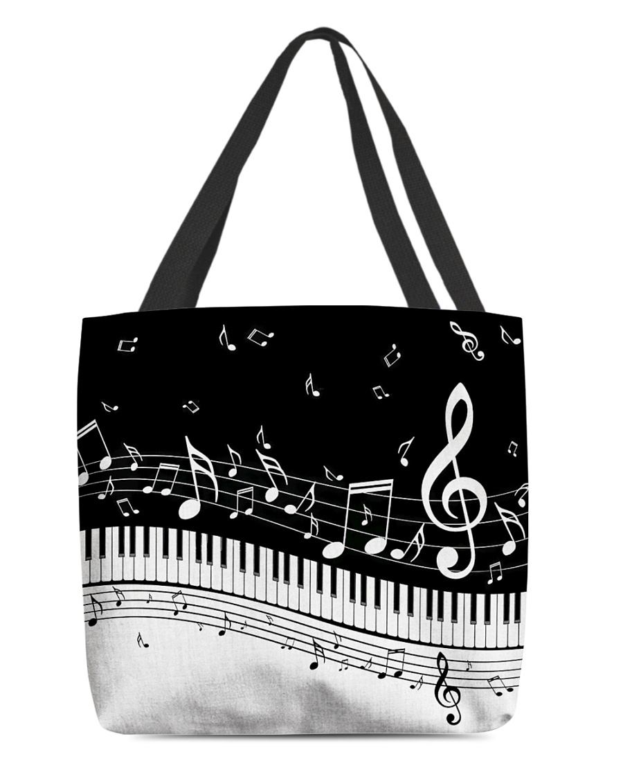 Piano And Music Notes All-over Tote