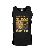 I closed my book to be here Unisex Tank thumbnail