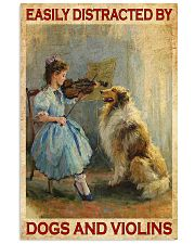 Easily Distracted By Dogs And Viol 11x17 Poster front
