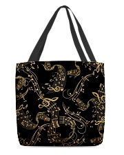 Gold Music Note All-over Tote back