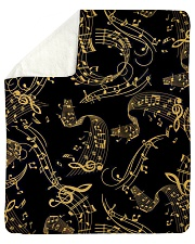 "Gold Music Note Sherpa Fleece Blanket - 50"" x 60"" thumbnail"