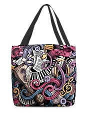 Cartoon Music Doodles All-over Tote thumbnail