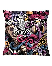 Cartoon Music Doodles Square Pillowcase thumbnail