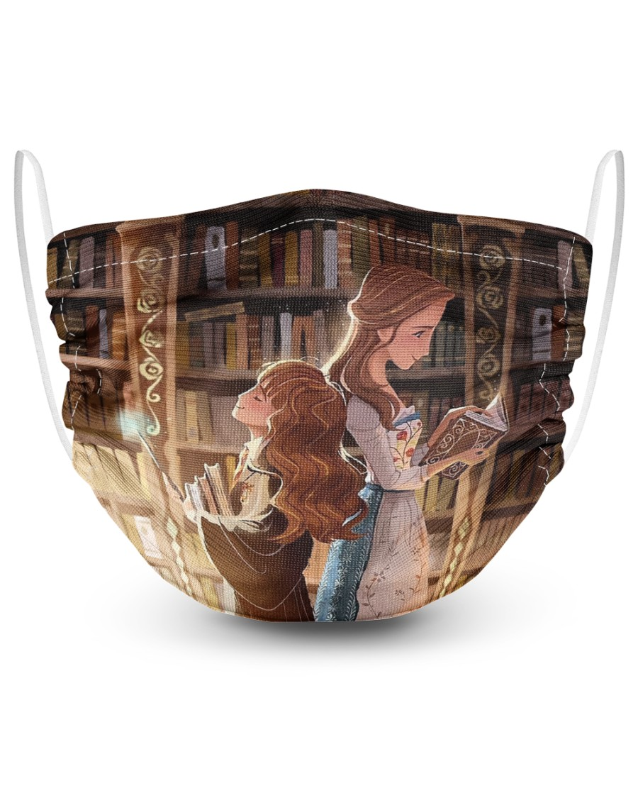 Hermione granger and Belle 2 Layer Face Mask - Single