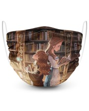 Hermione granger and Belle 2 Layer Face Mask - Single front