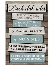 Book club rules 11x17 Poster front