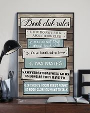 Book club rules 11x17 Poster lifestyle-poster-2