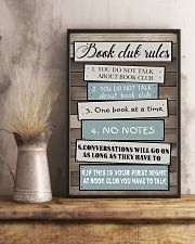 Book club rules 11x17 Poster lifestyle-poster-3