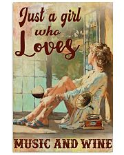 Loves Music And Wine Poster 11x17 Poster front