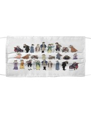 Pride and prejudice characters Cloth face mask thumbnail