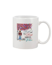 A girl and her books living life in peace Mug thumbnail