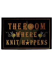 The room knit happens poster Woven Rug - 3' x 2' thumbnail
