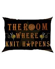 The room knit happens poster Rectangular Pillowcase thumbnail