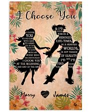 Hula couple choose poster customized 11x17 Poster front