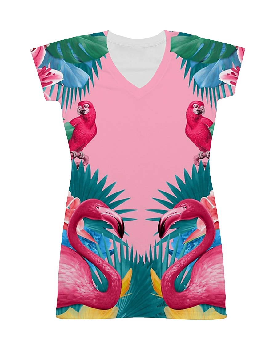 Flamingos All-over Dress