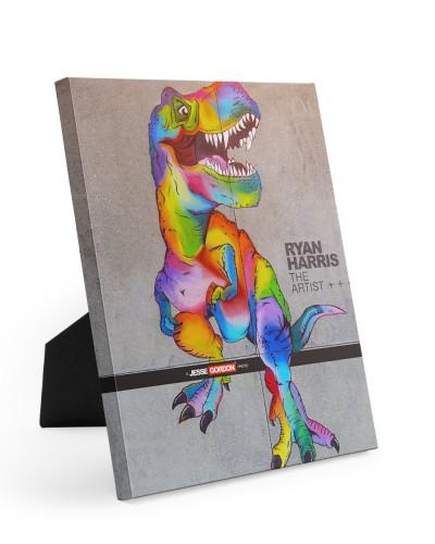 Huge T-Rex Chalk Art by Ryan Harris