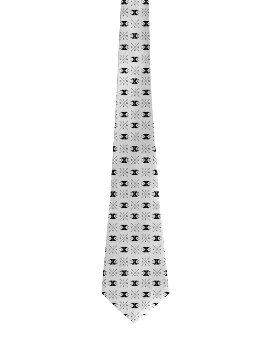 X INK Brand Pattern BLACK Tie