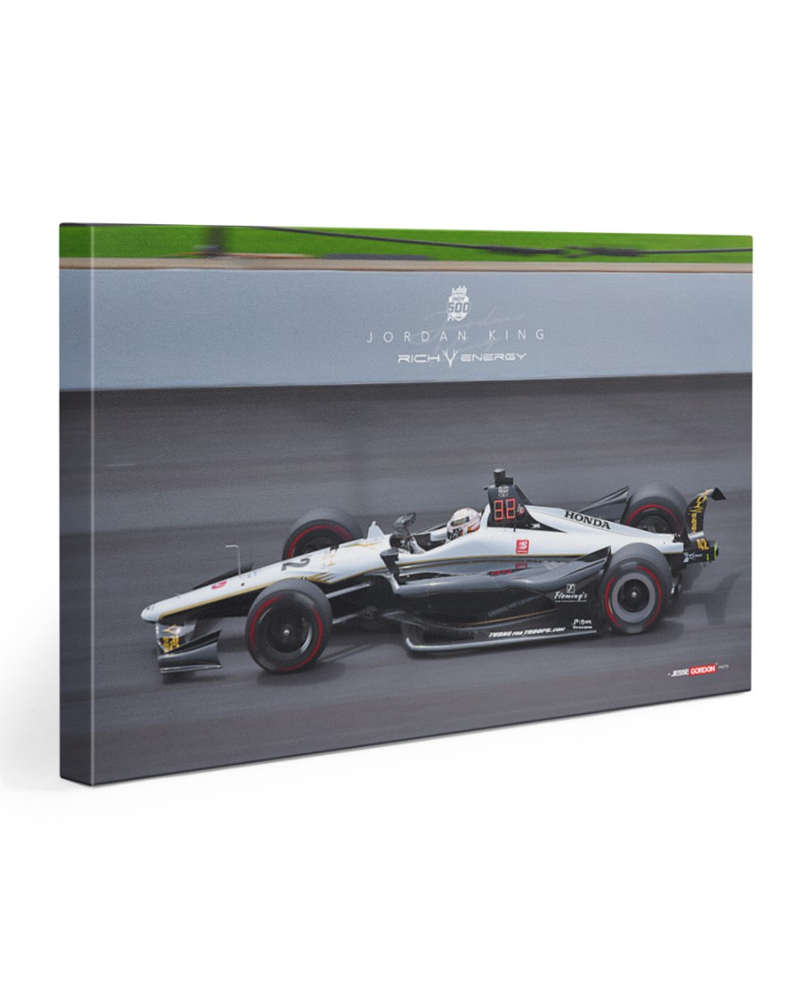 2019 Indy500 Rich Energy Driver Jordan King 30x20 Gallery Wrapped Canvas Prints