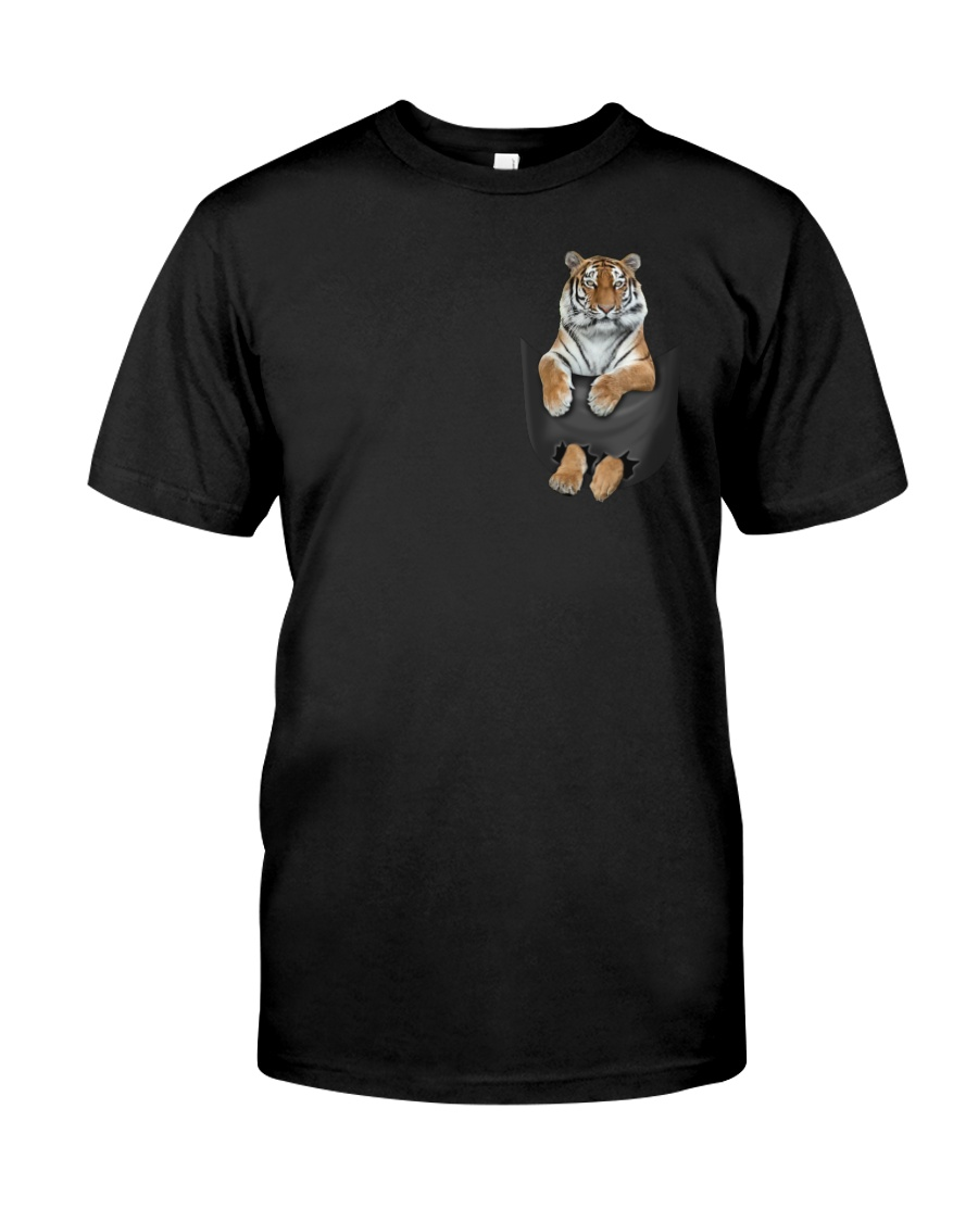 Tiger in Pocket Classic T-Shirt