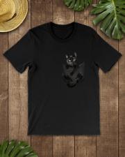 Black Cat in Pocket Classic T-Shirt lifestyle-mens-crewneck-front-18