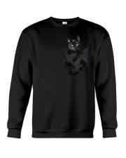 Black Cat in Pocket Crewneck Sweatshirt thumbnail