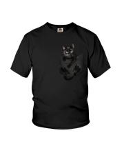 Black Cat in Pocket Youth T-Shirt thumbnail