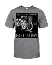 Shoot Us With Cameras Not Guns Classic T-Shirt front