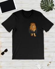 Lion in Pocket Classic T-Shirt lifestyle-mens-crewneck-front-17