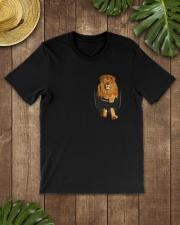 Lion in Pocket Classic T-Shirt lifestyle-mens-crewneck-front-18