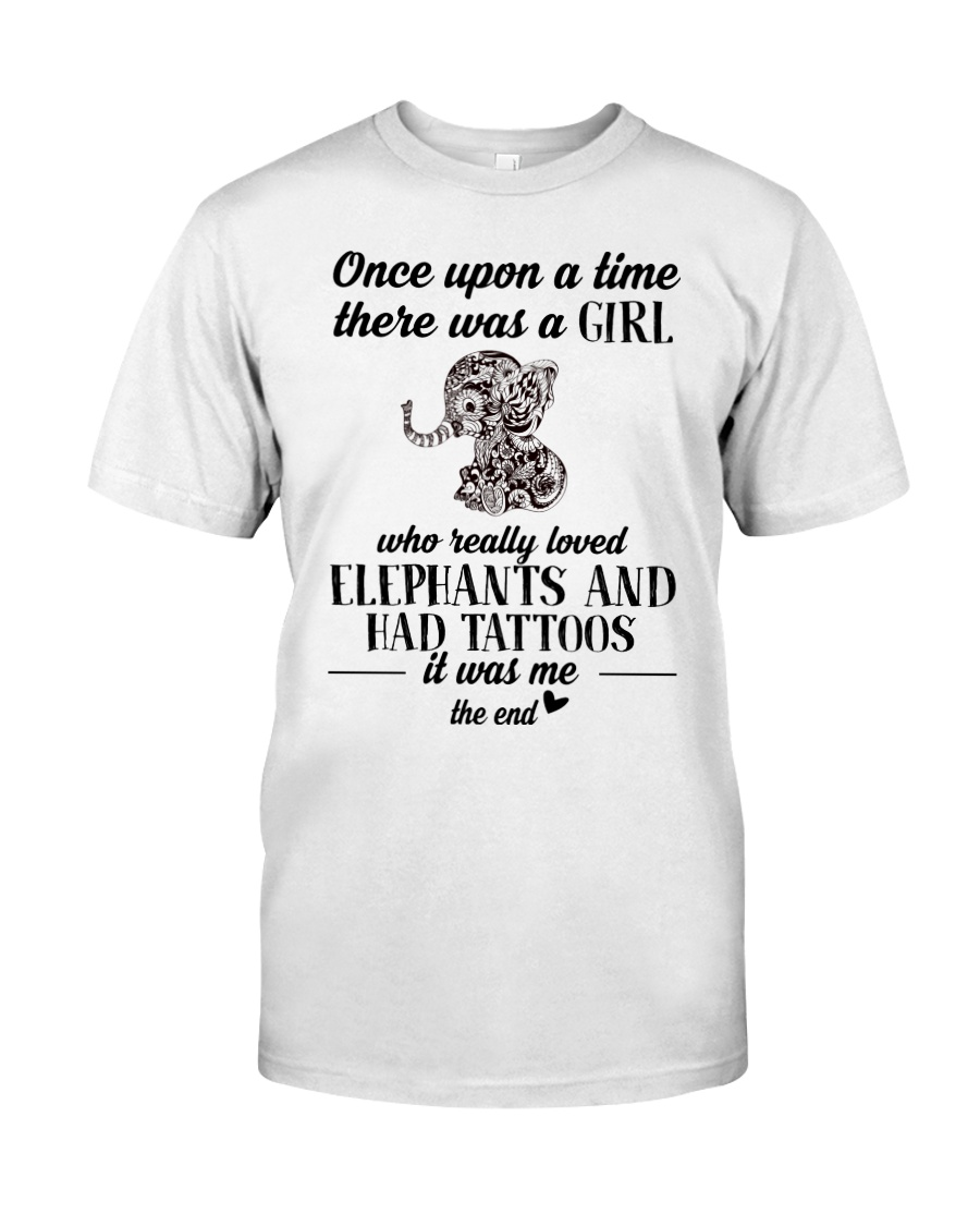 Loved Elephants and Had Tattoos Classic T-Shirt