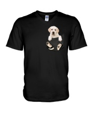 Labrador in Pocket V-Neck T-Shirt thumbnail