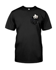 Panda in Pocket Classic T-Shirt front