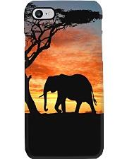 Elephants Sunset Phone Case tile