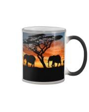 Elephants Sunset Color Changing Mug thumbnail