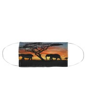 Elephants Sunset Cloth face mask aos-face-mask-coverlet-lifestyle-front-01