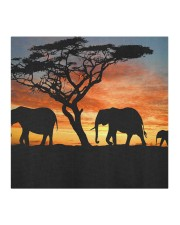 Elephants Sunset Cloth face mask aos-face-mask-coverlet-lifestyle-front-02