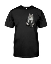 Cat in Pocket Classic T-Shirt front