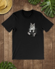 Cat in Pocket Classic T-Shirt lifestyle-mens-crewneck-front-18