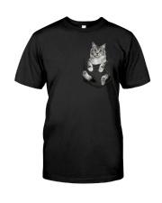 Cat in Pocket Premium Fit Mens Tee thumbnail