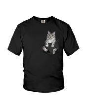 Cat in Pocket Youth T-Shirt thumbnail