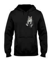Cat in Pocket Hooded Sweatshirt thumbnail