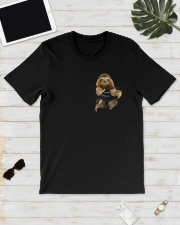 Sloth in Pocket Classic T-Shirt lifestyle-mens-crewneck-front-17