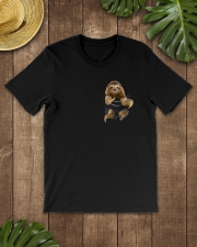 Sloth in Pocket Classic T-Shirt lifestyle-mens-crewneck-front-18