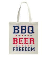 BBQ BEER FREEDOM Tote Bag thumbnail