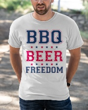 BBQ BEER FREEDOM Classic T-Shirt apparel-classic-tshirt-lifestyle-front-50