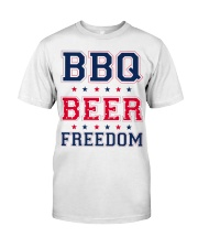BBQ BEER FREEDOM Classic T-Shirt front
