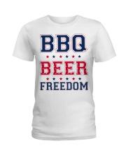 BBQ BEER FREEDOM Ladies T-Shirt thumbnail