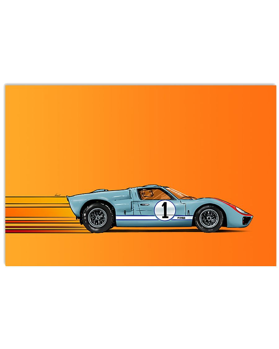 Ford GT40 - Le mans 1966 Ken Miles 17x11 Poster