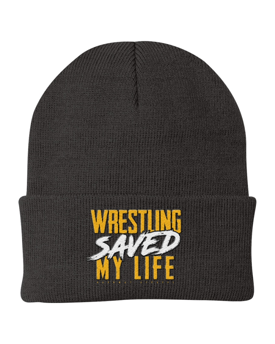 Wrestling Saved My Life Knit Beanie