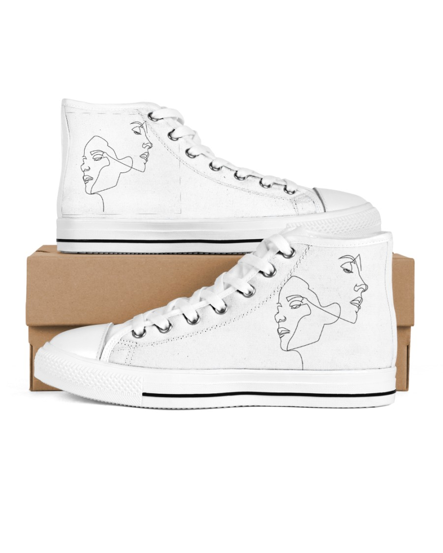 opposite attraction Women's High Top White Shoes